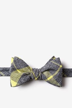 Yellow Cotton Kirkland Butterfly Bow Tie | Ties.com