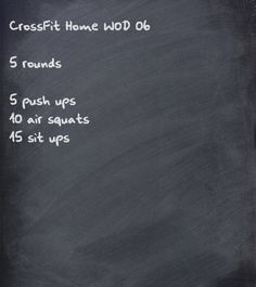 CrossFit home WOD (don't believe in CrossFit at home...so this is a travel WOD away from my box)