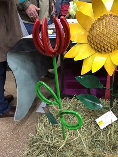 Horseshoes made into a tulip
