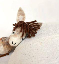 Luke  Felt Donkey Art Toy Felted Stuffed by TwoSadDonkeys on Etsy, $72.00
