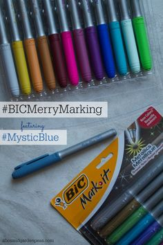 Spread the holiday cheer with BIC Mark-it – the perfect craft markers! #BICMerryMarking #MysticBlue #ad