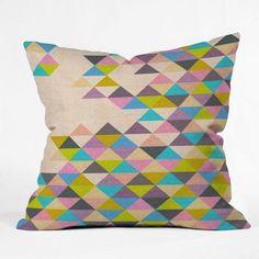 Bianca Green Color Throw Pillow - 13789-THRPI10
