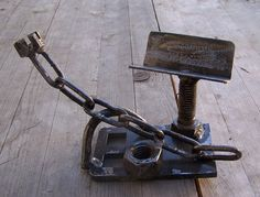business card holder  Industrial welded found object  by IshThis, $55.00