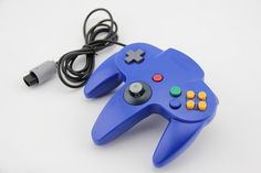 N64 Blue Long Handle Game Controller Control Remote Pad Joystick Fit for Nintendo 64 System