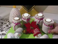 Beton giessen - DIY - kleine Sackchen als Teelichthalter - YouTube