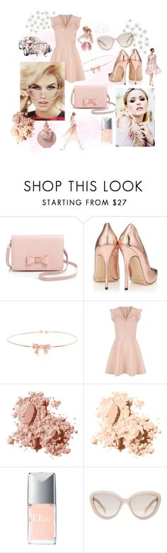 """Petite Baby Doll..."" by emma-gaulmin ❤ liked on Polyvore featuring WALL, Ted Baker, Sandro, Bobbi Brown Cosmetics, Christian Dior, Prada, Valentino, chic, Pink and lovely"