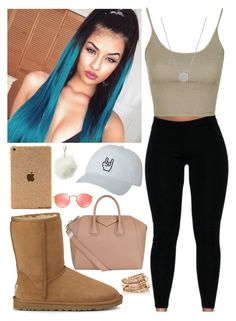 """""""Pia Mia-Do it again ft Chris Brown & Tyga"""" by aaliyahlee ❤ liked on Polyvore featuring UGG Australia, Topshop, Givenchy, Charlotte Russe, Ray-Ban and SPINELLI KILCOLLIN"""