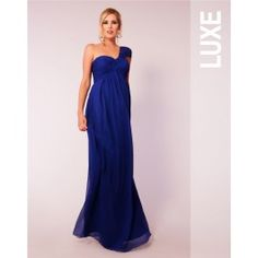 Multi-Way Blue Silk Dress