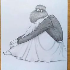 Pencil Sketches Of Girls, Disney Drawings Sketches, Girl Drawing Sketches, Girly Drawings, Girl Sketch, Art Drawings Sketches Simple, Cartoon Drawings, Drawing Ideas, Illustrator Tutorials