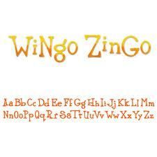"Sizzix/Cuttlebug ""WINGO ZINGO"" Decorative Alphabet Strip Die NEW"