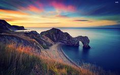 Durdle Door, a Jurrasic Coast kapuja Nagy-Britannia
