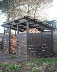 Simple plans to build backyard sheds are typical single storey configuration that is placed in the back of the garden that is used to store various equipment used for gardening. Lean To Shed Plans, Wood Shed Plans, Storage Shed Plans, Storage Ideas, Bike Storage, Outdoor Storage, Outdoor Firewood Rack, Firewood Shed, Firewood Storage