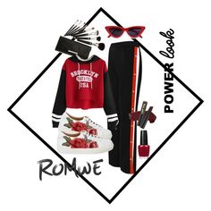 """""""untitled #2"""" by tanayareksa on Polyvore featuring WearAll, L.A. Girl, black, red, romwe and blackred"""