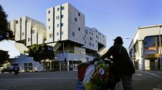 Innovative apartment complex for homeless people opens on skid row