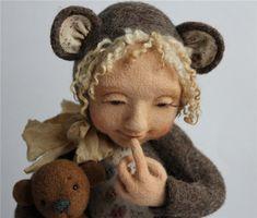 Lovely dolly by Valiayu Duraka (wet and needle felting)