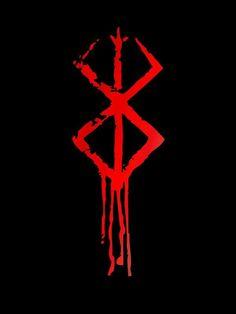 Berserk Symbol by Norse Tattoo, Viking Tattoos, I Tattoo, Berserker Tattoo, Body Art Tattoos, Sleeve Tattoos, Viking Berserker, Magic Symbols, Viking Warrior