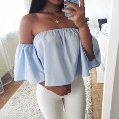 Off Shoulder Loose Little Shirt