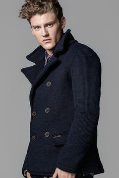 Doublebreasted wool peacoat is a great choice for those you want to be warm during the cold season!