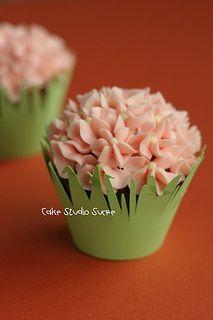 Flower Cupcake by kururu705, via Flickr