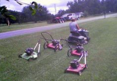 8/28/12 Brad has been doing so much mowing lately I think he needs this redneck mowing machine =)