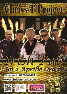 Concert Live Chriss-T Project la Irish Pub Arad http://chrisstmusic.com/events/concert-live-chriss-t-project-la-irish-pub-arad/