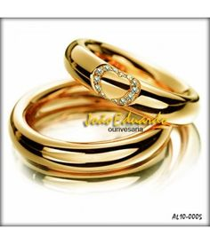 7 melhores imagens de jóias   Wedding bands, Diamonds e Gold wedding ... 2b30a93e8f