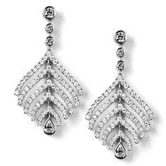"""Benwick"" Contemporary Diamond Earrings - Contemporary Diamond Earrings | Earrings | Diamond Jewellery"