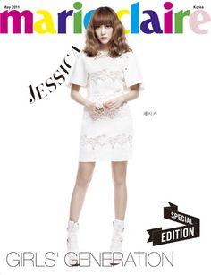 SNSD Jessica Marie Claire in white