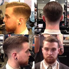 Hairstyles for men - Comb Over Fade Hairstyles for men - men's Hairstyles Barber Haircuts, Haircuts For Men, Short Hair Cuts, Short Hair Styles, Classic Haircut, Hair Reference, Beard Trimming, Comb Over, Fade Haircut