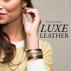 Luxe leather jewels from #Silpada!