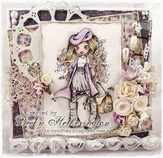 Card by LLC DT Member Becky Hetherington, using papers from Maja Design's Fika collection.