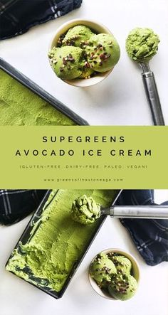 Calling all avocado lovers: just one bite of this Supergreens Avocado Ice Cream…