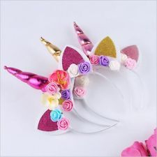 Magical Unicorn Horn Head Party Hairband Headband Fancy Dress Cosplay Costume UK