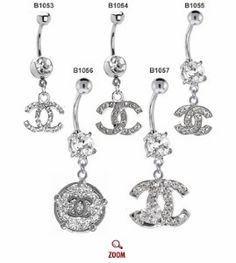 Chanel Belly Button Rings ♥ - Click image to find more Hair & Beauty Pinterest pins