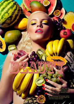 fruity fashion editorials | Claire Harrison shoots new Slink beauty editorial