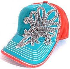 Olive & Pique Bling FDL Trucker Hat in Aqua | 2Die4Boutique.com