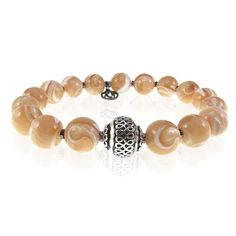 Pearl Gemstone Beaded Bracelet #men #menbracelet #pearl #gemstone #beaded #bracelet #menstyle #menfashion