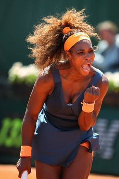"""Serena Williams  - 2013 French Open """"I've had to learn to fight all my life - got to learn to keep smiling. If you smile things will work out."""""""