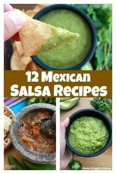 Here are several Mexican Salsa Recipes to get your creative cooking juices going. Delicious and tasty as an appetizer with chips or use as the base of a meal. By Mama Maggie's Kitchen via @maggieunz #mexicanfoodrecipes #mexicanfood #mexicanrecipes #appeti