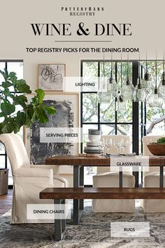Need dinnerware or flatware? Create your dream registry with Pottery Barn. Discover glassware, serving pieces and buffets that bring a big style statement to any dining room. Bring warmth and appetizing ambiance to every meal with dining room gifts from Pottery Barn.