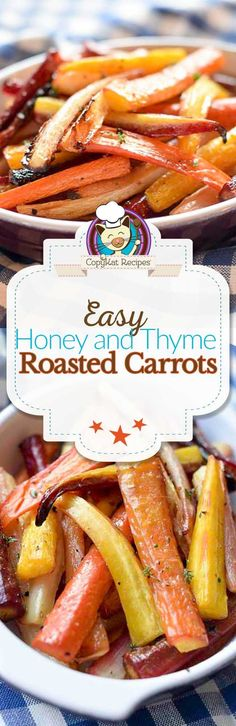 Looking for a new way to prepare fresh carrots? Try this simple honey and thyme roasted carrots for an easy vegetarian side dish.