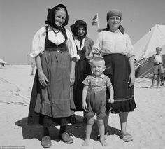During the 18 months that refugees stayed at the camp during World War II, there were 300 ...