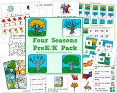 seasons for preschool | FREE Four Seasons PreK/K Pack | This Reading Mama