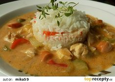 Easy Cooking, Cooking Recipes, Slovak Recipes, No Salt Recipes, Thai Red Curry, Slow Cooker, Food And Drink, Menu, Soup