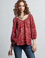 Tunics!  Lucky Brand has lots of great ones this year.  My favourite cut but  can't buy too many at $60 + each.