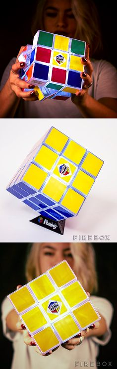 Play and solve it, even in the dark, just turn on its light and give it a go. Check it out ==> | Rubik's Cube Light | http://gwyl.io/rubiks-cube-light/