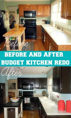 Confessions of a Semi-Domesticated Mama: Before/After: Kitchen Remodel For Under $65