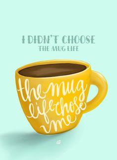 LostBumblebee ©2015 MDBN :: FREE - donate to download - PRINTABLE :: Personal Use Only. Coffee, Mug, Mug Life
