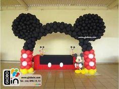 Resultado de imagen para como hacer decoracion de globos de minnie