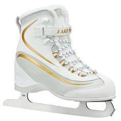 Lake Placid Everest Women's Soft Boot Figure Ice Skates, White